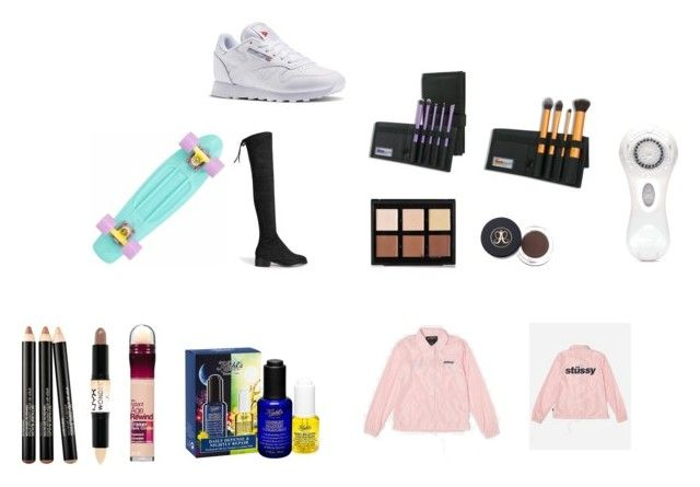 """uk wishes"" by marssysl on Polyvore featuring Anastasia Beverly Hills, Stussy, Reebok, Clarisonic, Smashbox, NYX, Maybelline and Kiehl's"