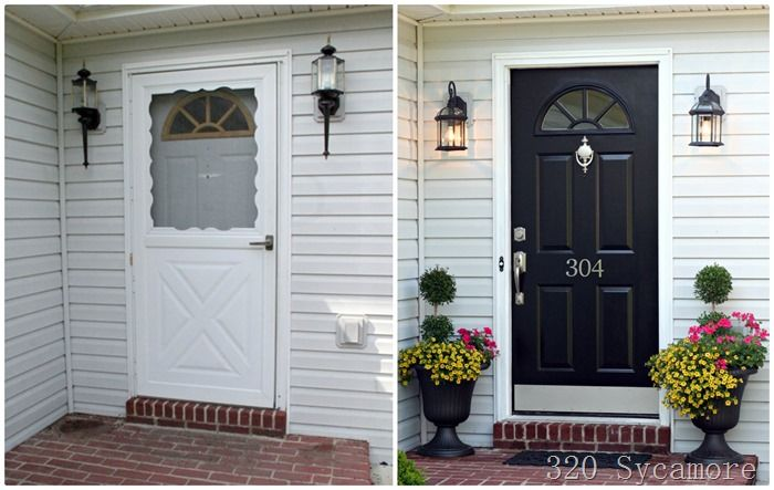 Front door before & after. Big change without much $$.