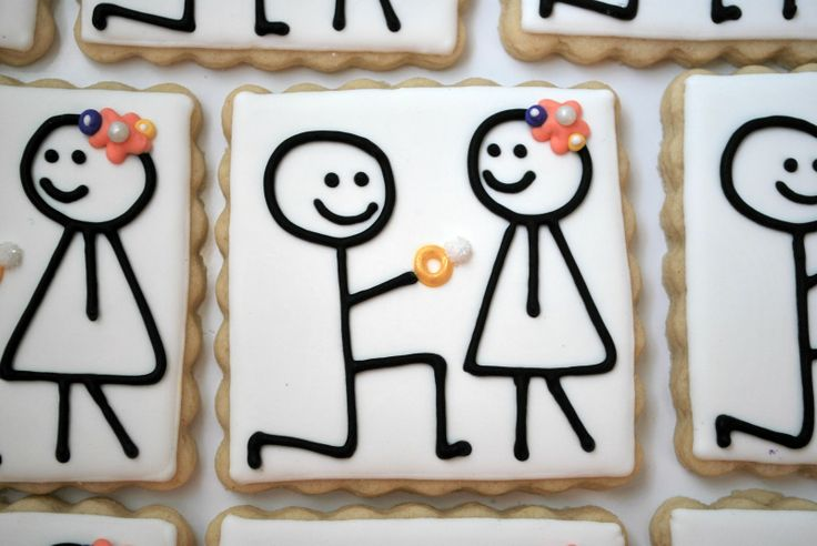 The Doughmestic Housewife: Engagement Cookies