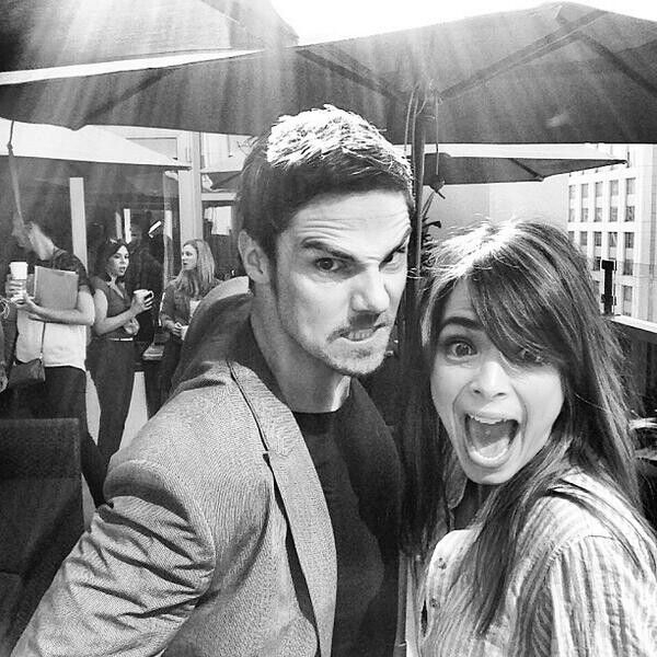 First picture of Jay Ryan and Kristin kreuk at this year's ComicCon #BATB #BatBSDCC pic from @ KatherineDayne on twitter!