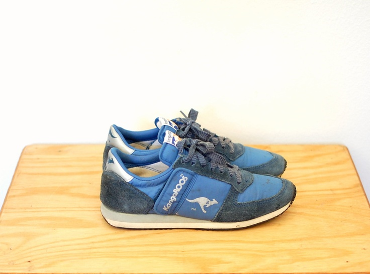 R e s e r v e d vintage kangaroos / vintage 80s sneakers / 1980s running  shoes / women's 9 1/2 9.5 men's 7 1/2 7.5