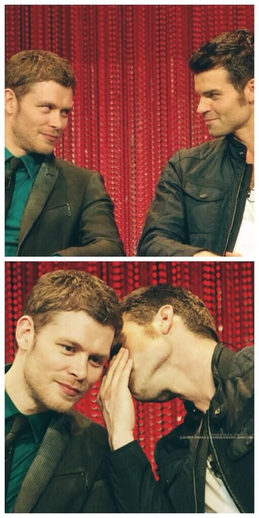 Haha I really love them! @Joseph Morgan @danieljgillies #PaleyFest #TheOriginals pic.twitter.com/C9aeafSuuM