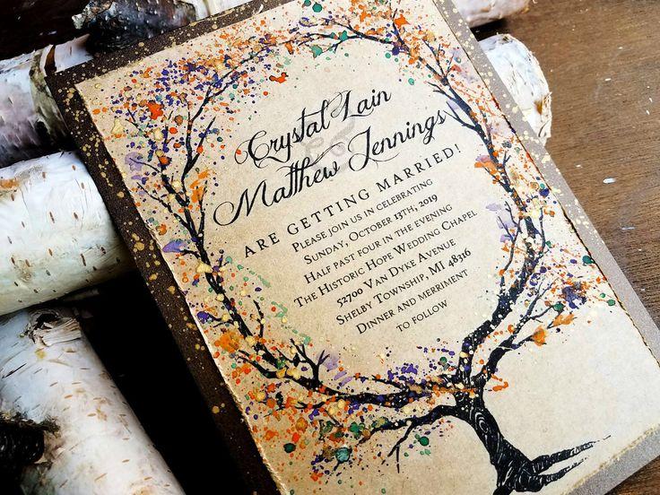 best 20+ woodland wedding invitations ideas on pinterest | winter, Wedding invitations