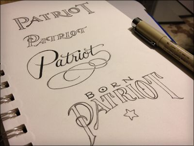 PatriotLetters Artists, Patriots Yup, Patriots Sketches, Patriots American, Calligraphy Typography, Fonts, Toodles 27, Patriots Typography, Classic Typography