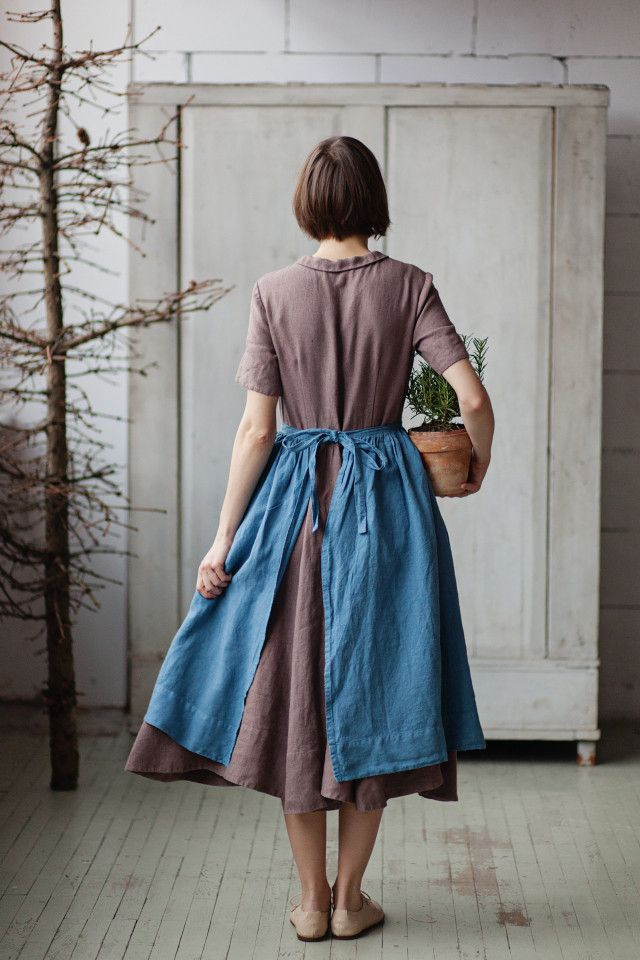 Son de Flor - blue romantic apron (lovely linen shop!)