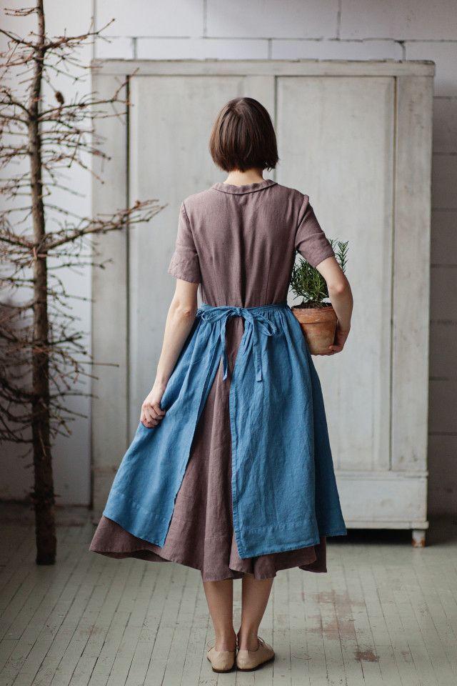 Son de Flor - blue romantic apron (lovely linen shop!)