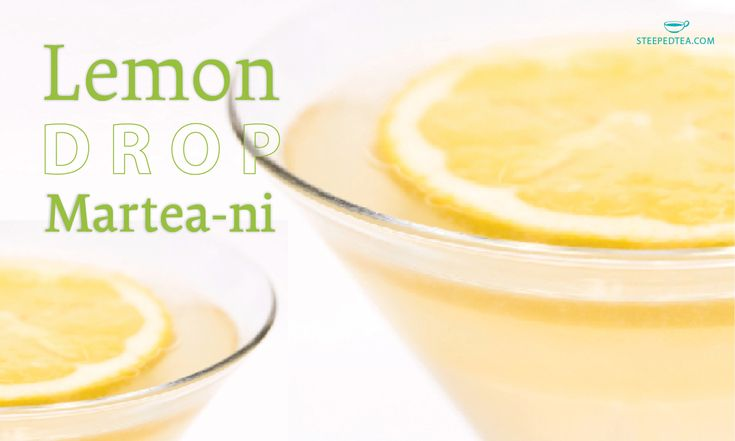 WHAT WE'RE SERVING Lemon Drop Martea-ni Ingredients: 1.5 oz vodka 1.5 oz Lemon Drop, rooibos tea (cooled) 1 sugar cube, plus approx. 1 tbsp. loose sugar Instructions: Add sugar to the rim of a martini glass, and drop a cube or packet of sugar into the bottom of the glass. Pour vodka and tea into a shaker over ice and shake until completely cold. Pour into the prepared martini glass, and serve