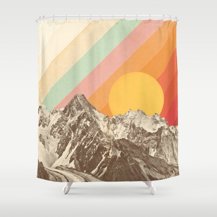 Buy Mountainscape 1 Shower Curtain By Speakerine Worldwide