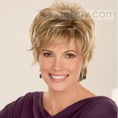 Graceful Celebrity Hairstyle Short Wavy about 4Inches Strawberry Blonde Perfect Wig