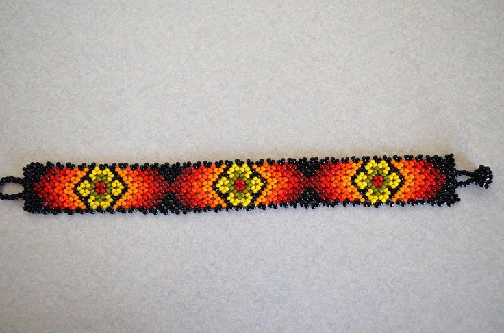 Multicolor Mexican Hand Beaded Huichol Bracelet | eBay