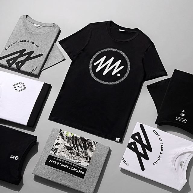Minimal print and cool new logos from CORE by JACK & JONES.