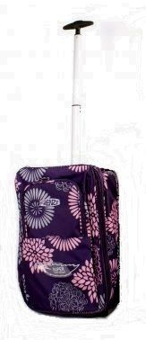 """Womens Mens & girls 17"""" inch Suitcase Purple HIGH QUALITY Design (Dimension All Parts Included, 46 x 31 x 18cm) Superior Quality wheeled hand luggage Flight Cabin bag, Suitable For Ryanair, Easyjet, BMI, BA, Virgin (Fits within 55 x 40 x 20 cm). (PURPLE) Single Handle Wheeled Holdall, Approved Cabin Flight Bag, Weekend Bag, Maternity Bag, Hospital Bag, Baby Bag, School College Holdall, (Ideal For Business, And Good For Shopping).THE MAIN STORAGE COMPARTMENT IS EASY TO LOAD AN"""