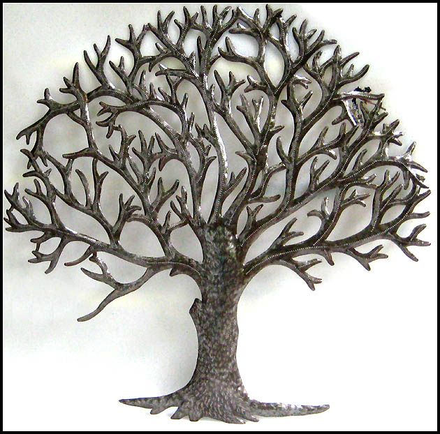 Natural Metal Tree Wall Art Decoration Ideas: Metal Tree Wall Art