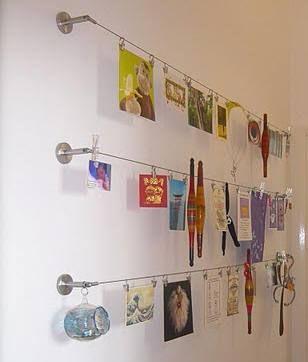 Art on IKEA Curtain Wire