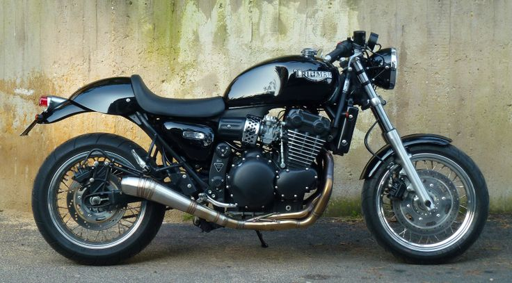 Garage-built Triumph Thunderbird cafe racer.