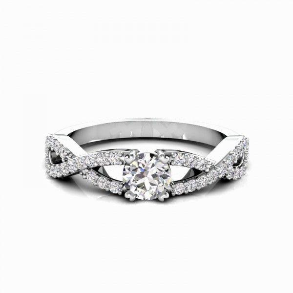 Ein absoluter Hingucker. Die Ringschiene ähnelt dem Verlauf des Unendlichkeits- Zeichens, und symbolisiert daher die Liebe zu Ihrem Partner #love #forever #diamond #ring #mariage #partner