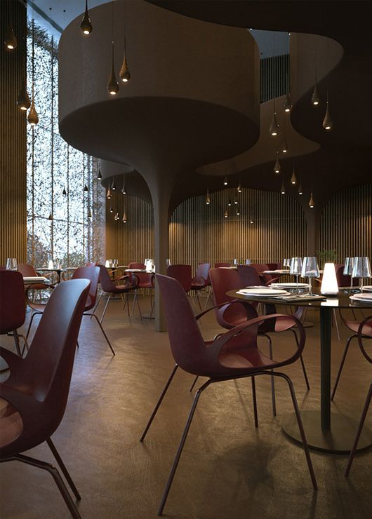 Twister Restaurant by Serghii Makhno & Vasiliy Butenko   Inspiration Grid   Design Inspiration