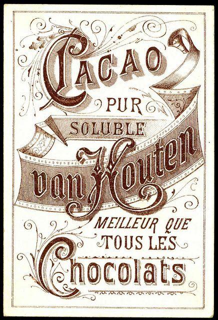 Van Houten Tradecard - back