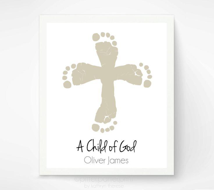 Baptism Gift  Christian Nursery Art Print  by PitterPatterPrint, $30.00