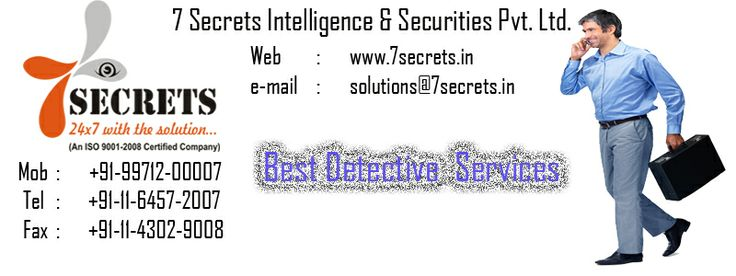 Best Corporate Detective service in delhi. These days, detective work is a huge business. Corporate detectives sniff out the facts, analyse them, share them with customers. http://7secrets.in/Corporate.php
