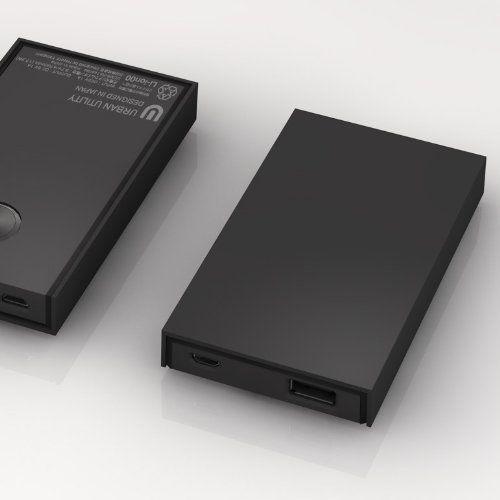 """モバイルバッテリー""""RECTANGLE レクタングル"""" UCMB-RA1ZK (Black・黒) 4700mAh URBAN UTILITY, http://www.amazon.co.jp/dp/B00B6ZB0ES/ref=cm_sw_r_pi_dp_-K0Ctb1ATAY6G"""