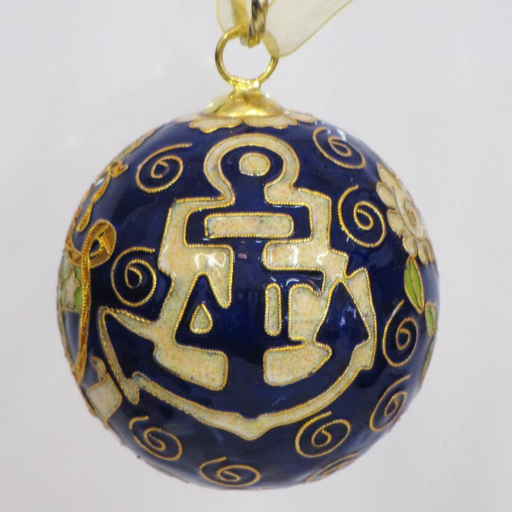 Officially licensed Delta Gamma, handcrafted, 24k gold plated cloisonne ornament - www.KittyKeller.com