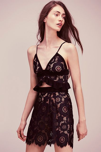 Sheer Clothing Doesn't Have To Be Scary  #refinery29  http://www.refinery29.com/2016/06/114634/see-through-clothes-summer-2016#slide-6  Sheerly irresistible.Free People Sonya Set, $321, available at Free People. ...