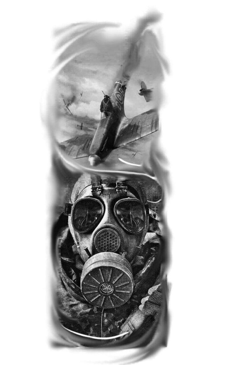Shernobyl, airplane tattoo