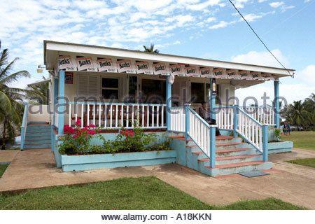 Public rest stop Bathsheba cattlewash beach Barbados windward islands lesser antilles caribbean west indies - Stock Image