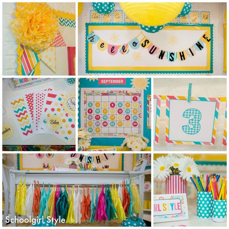 Turquoise Classroom Decor : Sunshine classroom theme by schoolgirl style