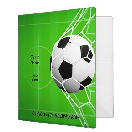 Personalized Team Name Soccer Ball 1-Inch 3 Ring Binder - home gifts ideas decor special unique custom individual customized individualized