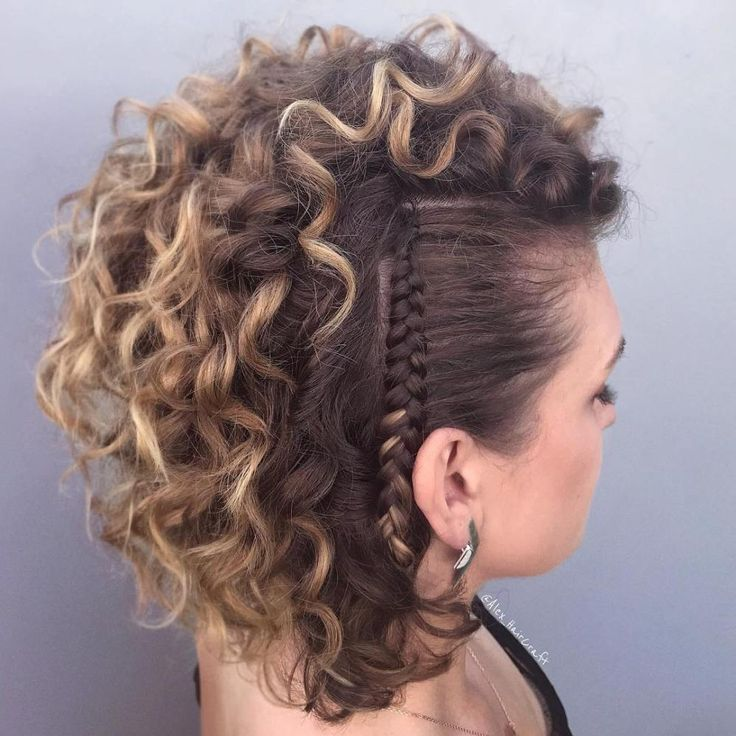 Cool Punky Side Braids | Braids with curls, Side braid hairstyles, Braids for short hair