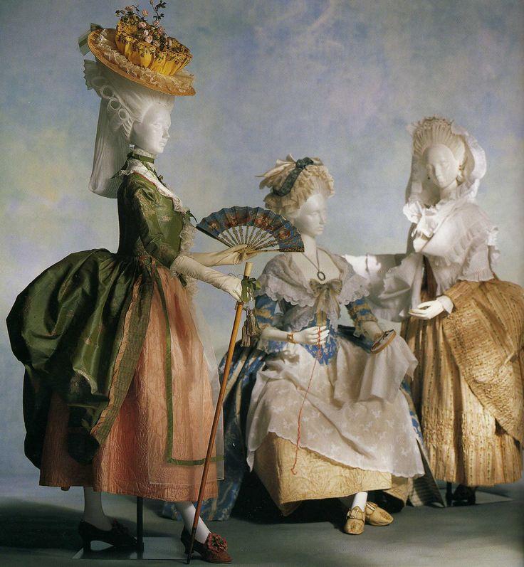 "1780""robe a la polonaise"" Около 1780, Франция. Зеленая шелковая тафта с восточными мотивами"