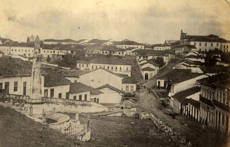 Central Sao Paulo, Brazil, in 1860 (by then a village with only 30.000 people)