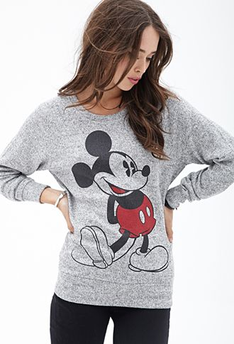 Marled Mickey Mouse Sweater $19.80 Forever 21