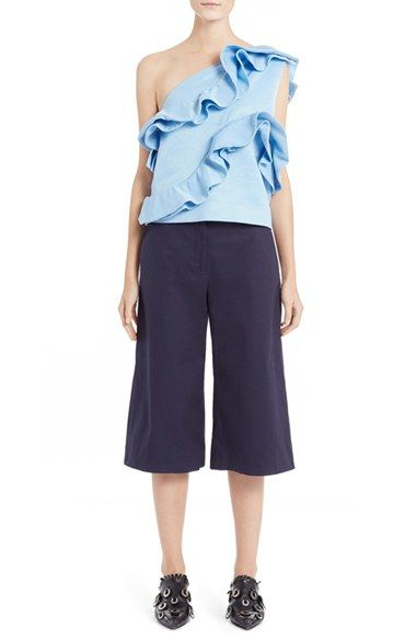 MSGM One-Shoulder Ruffle Top available at #Nordstrom