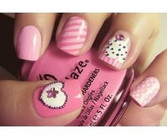 nails nails nails: Pink Cupcake, Cupcake Rosa-Choqu, Nails Art, Nailart, Cute Nails, Nails Design, Pink Nails, Nailsart, Cupcake Nails