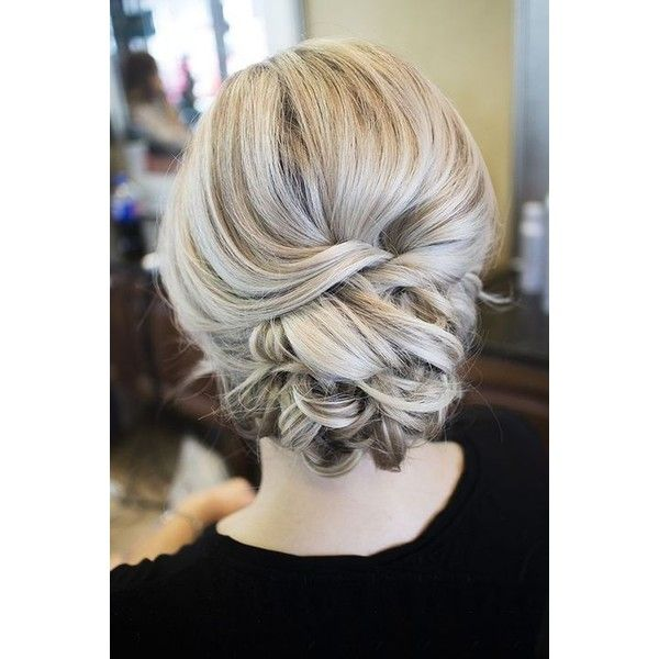 42 Beautiful Bridesmaid Hair Ideas ❤ liked on Polyvore featuring beauty products and haircare