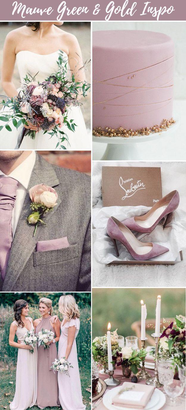 Stunning Mauve Green and Gold Wedding Inspiration | B&E Lucky in Love Blog #mauvewedding