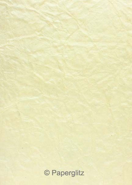 Handmade Embossed Paper - Crinkle Ivory Pearl A4 Sheets