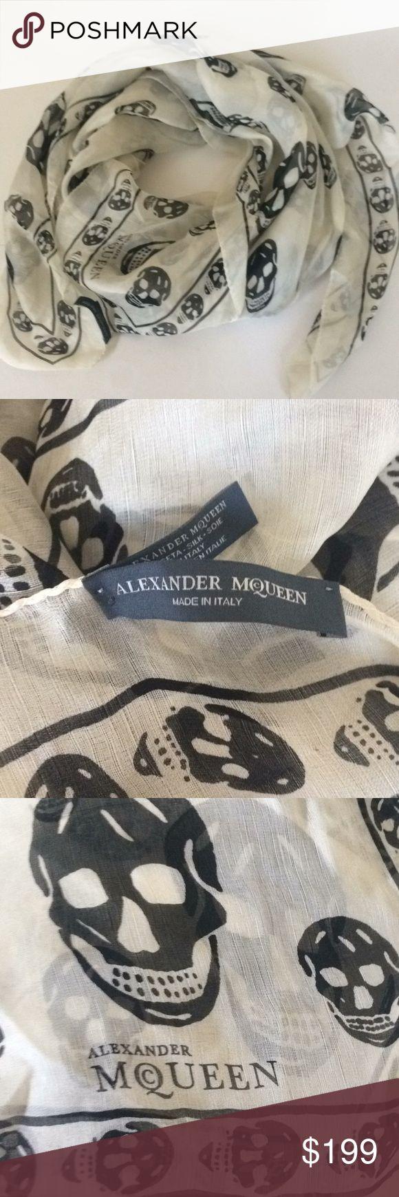 Alexander McQueen Silk Skull scarf Authentic Alexander McQueen skull scarf. Excellent condition!! Alexander McQueen Accessories Scarves & Wraps