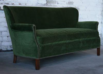 Hunter Green Sofa - Home Furniture Design