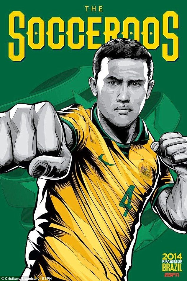 Former Everton and Millwall star Tim Cahill is the Socceroo on the Australia World Cup pos...
