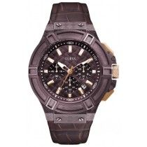 GUESS Brown Leather Chronograph W0408G2