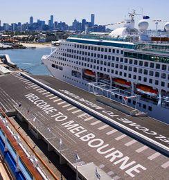 Cruise ship at Station Pier Melbourne, Australia.