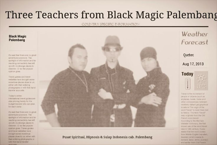 Trio Teachers Spiritual, Hipnosis, & Sulap from Black Magic Palembang