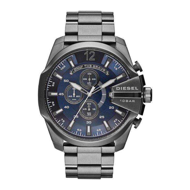 Diesel Mens Mega Chief Grey horloge DZ4329
