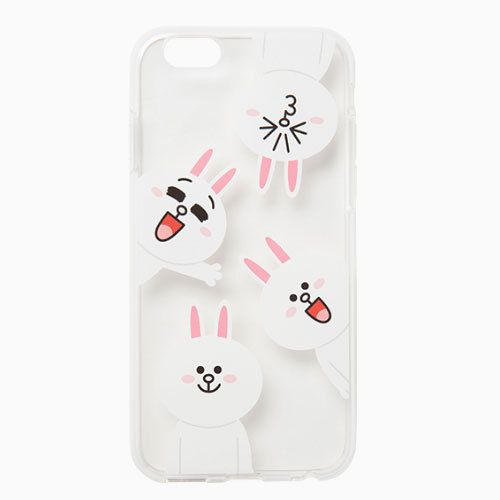 Line Friends Cony Pattern iPhone 6 6s Plus Jelly Clear Fitted Case Skin Cover #NaverLineFriends
