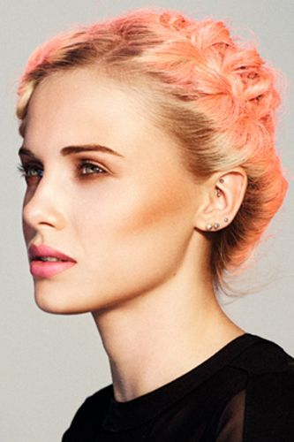 Peach hair color