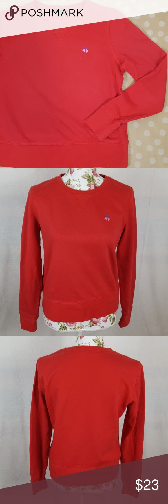 BROOKS BROTHERS Red Pop Over Sweat Shirt Perfect condition and super comfortable! The material is buttery soft cotton with soft fleece on the inside. Brooks Brother emblem embroidered on front left breast. Brooks Brothers Tops Sweatshirts & Hoodies
